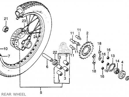 Honda CB125S 1981 (B) USA parts lists and schematics