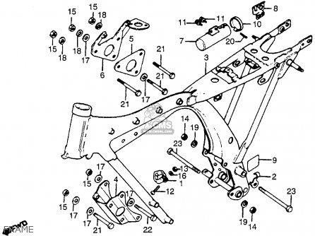 Honda Cb125s 1981 Usa parts list partsmanual partsfiche