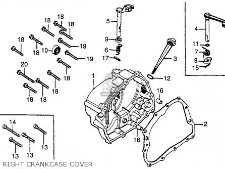 Honda Cb125s 1981 Usa parts list partsmanual partsfiche