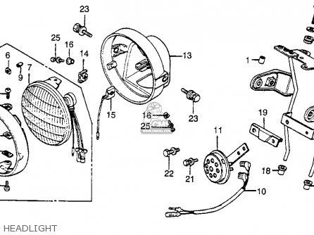Honda Cb125s 1982 (c) Usa parts list partsmanual partsfiche