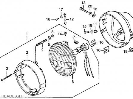 Honda Cb125s 1984 (e) Usa parts list partsmanual partsfiche