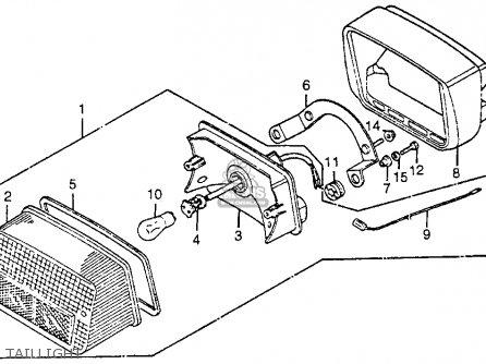 Honda CB125S 1984 (E) USA parts lists and schematics