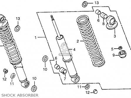 Honda Cb125s 1984 Usa parts list partsmanual partsfiche