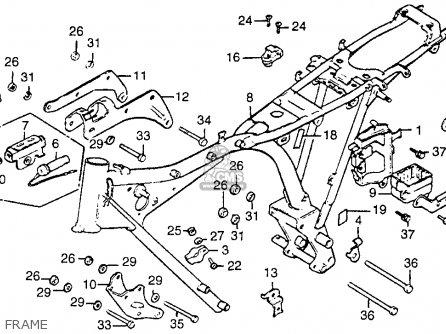 Honda Cb125s 1985 (f) Usa parts list partsmanual partsfiche