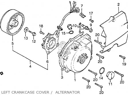 Honda CB125S 1985 (F) USA parts lists and schematics
