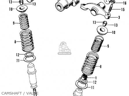 Honda Cb125s S1 1974 Usa parts list partsmanual partsfiche