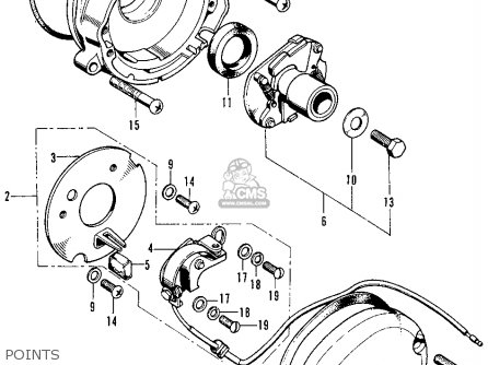 Honda CB125S S1 1974 USA parts lists and schematics