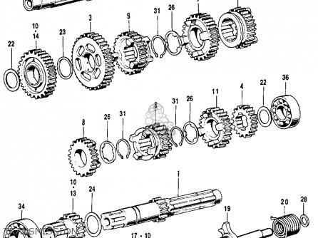 Honda CB125S S1 1974 USA parts lists and schematics