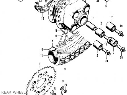 Honda CB125S S2 1975 USA parts lists and schematics