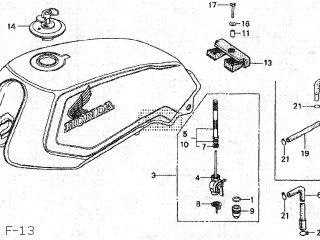 Honda CB125T 1985 (F) JAPAN JC06-110 parts lists and