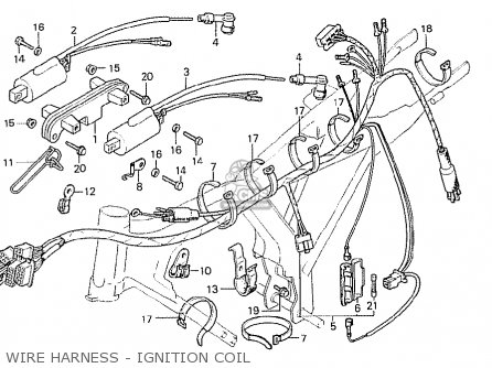 Honda Cb125t France parts list partsmanual partsfiche