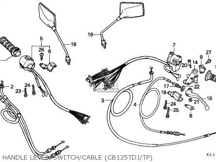 Honda Cb125t Superdream 1993 Singapore parts list
