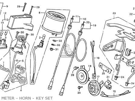 Honda Cb125t2 France parts list partsmanual partsfiche
