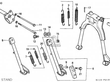 Honda CB125TD SUPERDREAM 1982 (C) FRANCE parts lists and