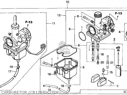 Honda Cb125td Superdream 1982 England parts list