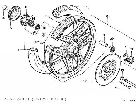 Honda Cb125td Superdream 1984 (e) England parts list