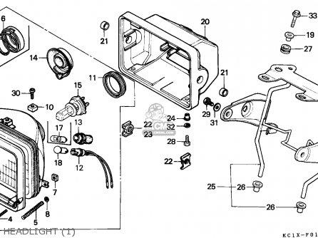 Honda Cb125td Superdream 1984 (e) Sweden parts list