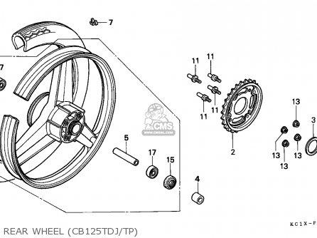 Honda CB125TD SUPERDREAM 1988 (J) ENGLAND parts lists and