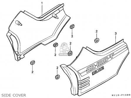 Honda Cb125td Superdream 1988 (j) France parts list