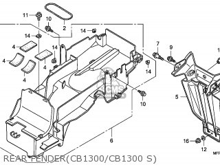 Honda Cb1300 2008 (8) France / Cmf parts list partsmanual
