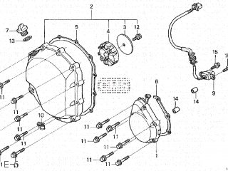 Honda CB1300DC X4 1997 (V) JAPAN SC38-100 parts lists and