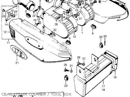 Honda Cb175 Super Sport 175 K3 1969 Usa parts list