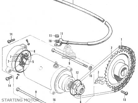 Honda Cb175 Super Sport 175 K7 1973 Usa parts list