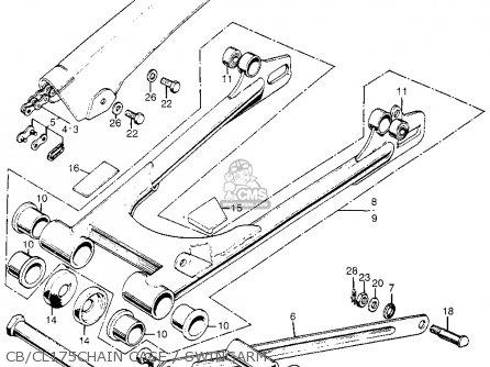 Honda Cb175k3 Super Sport 1969 Usa parts list partsmanual