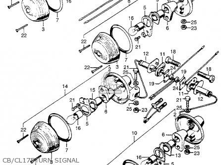 Honda CB175K3 SUPER SPORT 1969 USA parts lists and schematics
