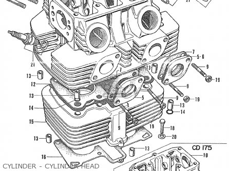 Honda CB175K3 SUPER SPORT GENERAL EXPORT parts lists and