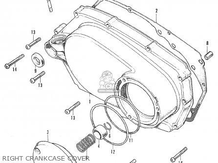 Honda Cb175k4 Super Sport 1970 Usa parts list partsmanual