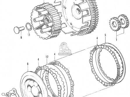 Honda Cb175k5 Super Sport 1971 Usa parts list partsmanual