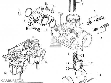 Honda CB175K6 SUPER SPORT 1972 USA parts lists and schematics