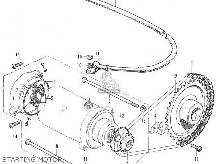 Honda Cb175k6 Super Sport 1972 Usa parts list partsmanual