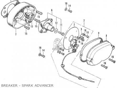 Honda CB175K7 SUPER SPORT 1973 USA parts lists and schematics