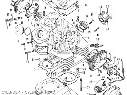 Honda Cb200 (general Export) parts list partsmanual partsfiche