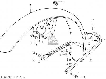 Honda Cb200t 1975 Usa parts list partsmanual partsfiche