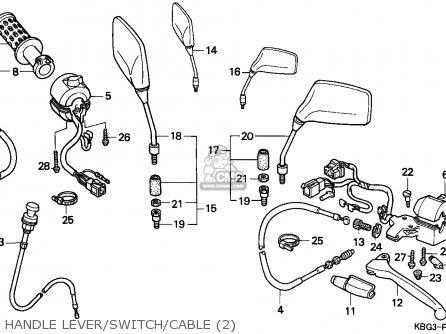 Honda CB250 1998 (W) ENGLAND / KPH parts lists and schematics