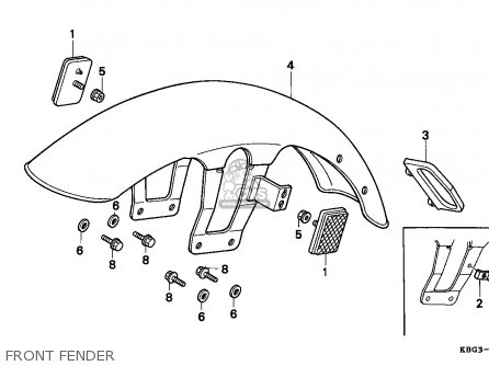 Honda CB250 2000 (Y) ENGLAND / MPH parts lists and schematics