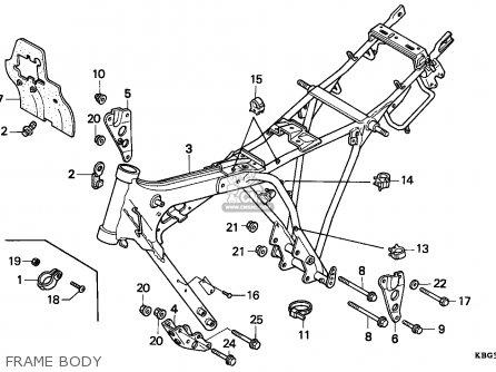 Honda Cb250 Nighthawk 1991 (m) Canada / Kph parts list