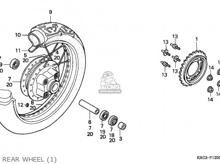 Honda Cb250 Nighthawk 1992 (n) Canada / Kph parts list
