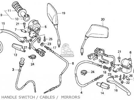 Honda Cb250 Nighthawk 1992 Usa parts list partsmanual