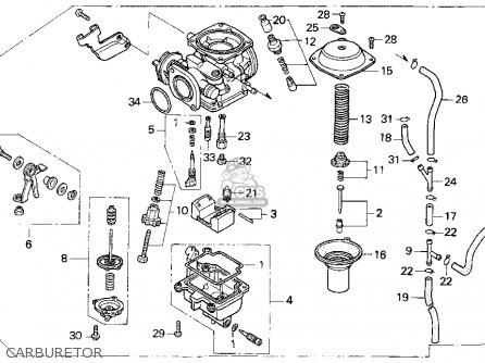 Honda 250 Recon Carburetor Diagram Honda Shadow Carburetor