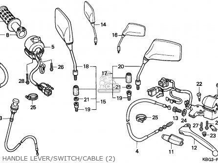 Honda CB250 TWO FIFTY 1992 (N) ENGLAND / MPH parts lists