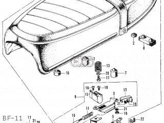 Honda CB250B3 JAPAN parts lists and schematics