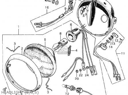 Honda Cb250k0 Sweden parts list partsmanual partsfiche