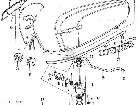 Honda CB250K4 ENGLAND parts lists and schematics