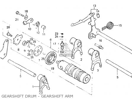 Honda Cb250n 1981 (b) Australia parts list partsmanual