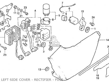 Honda Cb250n 1981 (b) Australia parts list partsmanual