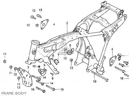 Honda Cb250n 1981 (b) Belgium parts list partsmanual
